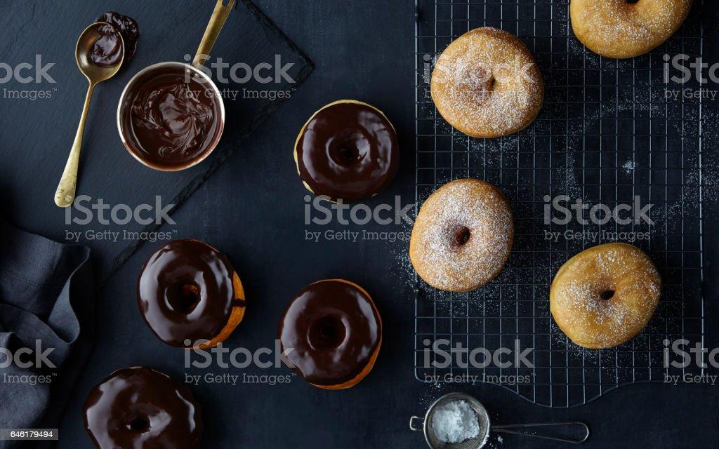 Donuts Overhead stock photo