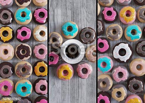 Donuts Smartphone Background, Food, Breakfast, Cake, Coffee