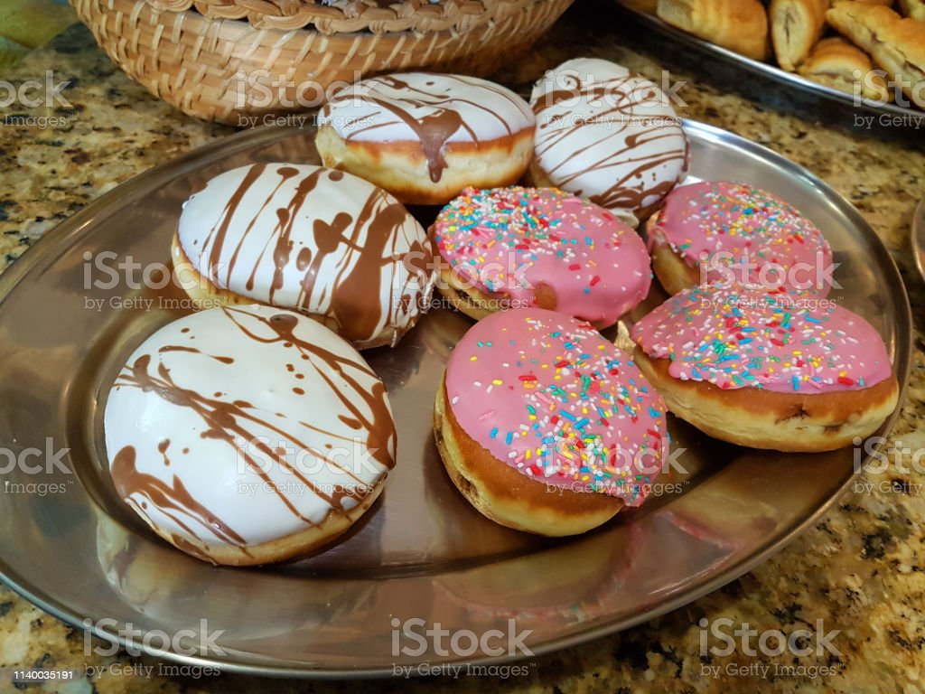 Amazing Donuts Sweets Colors Chocholate In Local Bakery Shop Stock Photo Funny Birthday Cards Online Barepcheapnameinfo