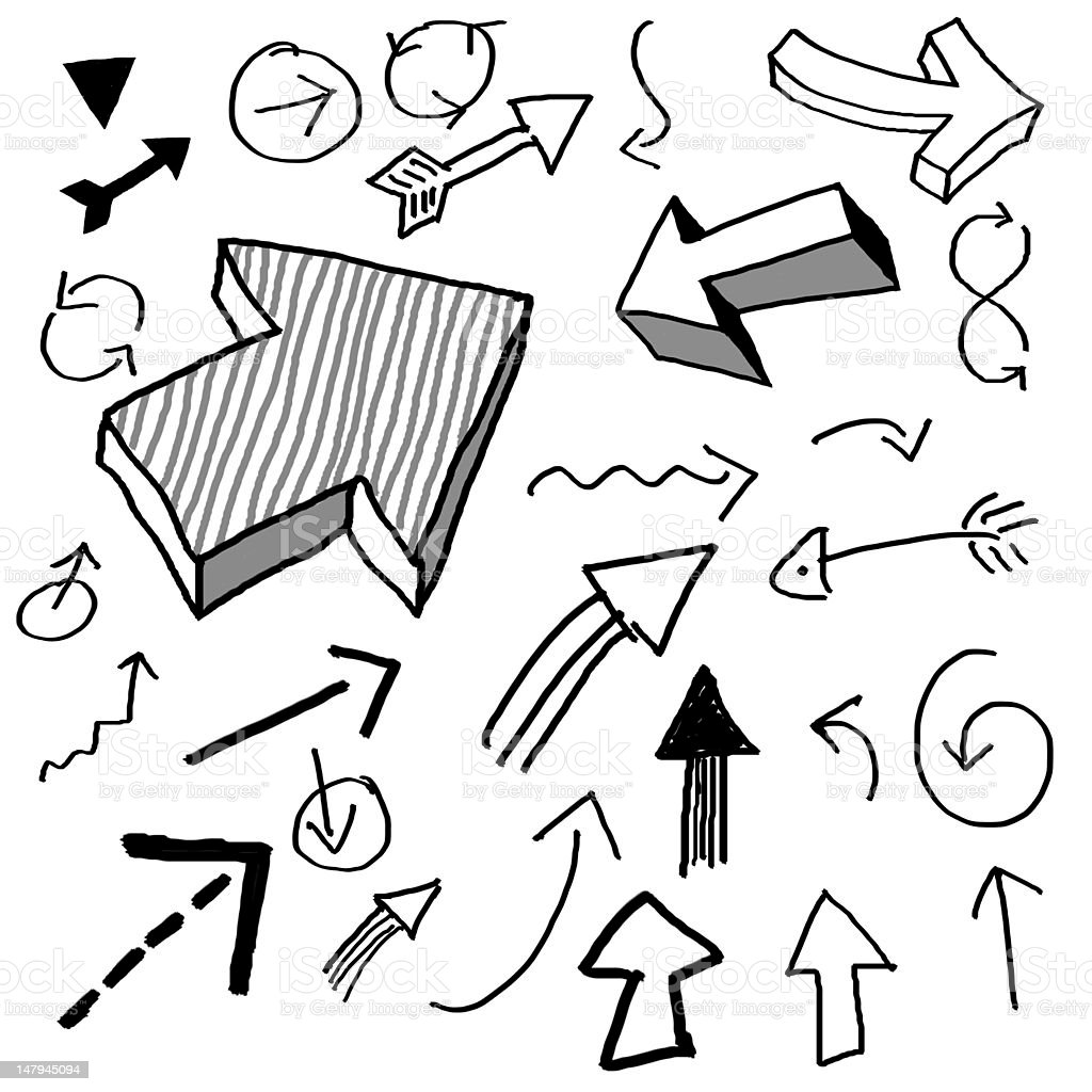 doodle arrows stock photo
