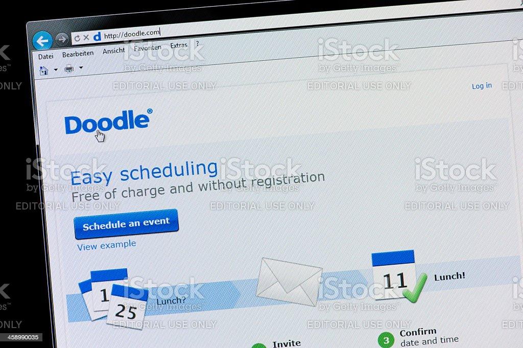 Doodle - Macro shot of real monitor screen stock photo