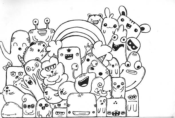 Doodles stock photo