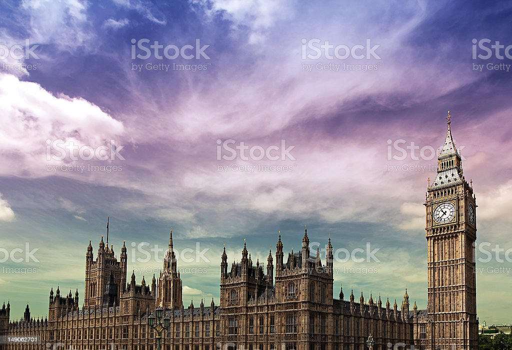 Doomsday over Parliment royalty-free stock photo
