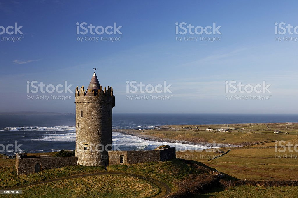Doonagore Castle, County Clare stock photo