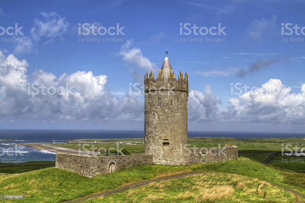 Doonagore castle HDR stock photo