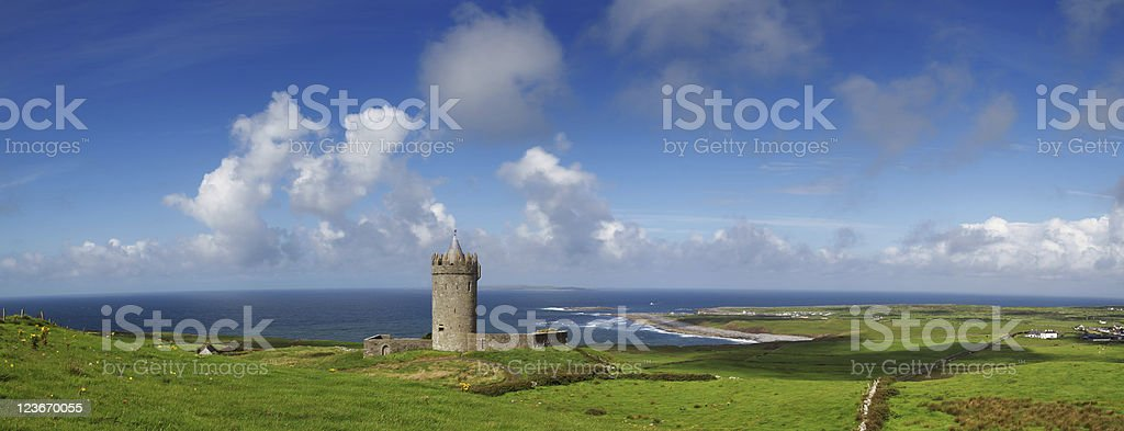 Doonagore castle panoramic royalty-free stock photo