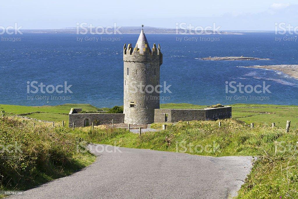 Doonagore castle stock photo