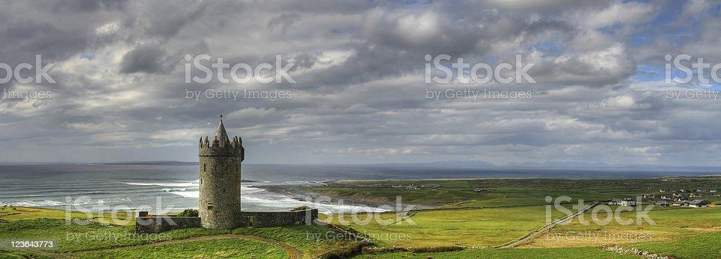 Doonagore panoramic stock photo
