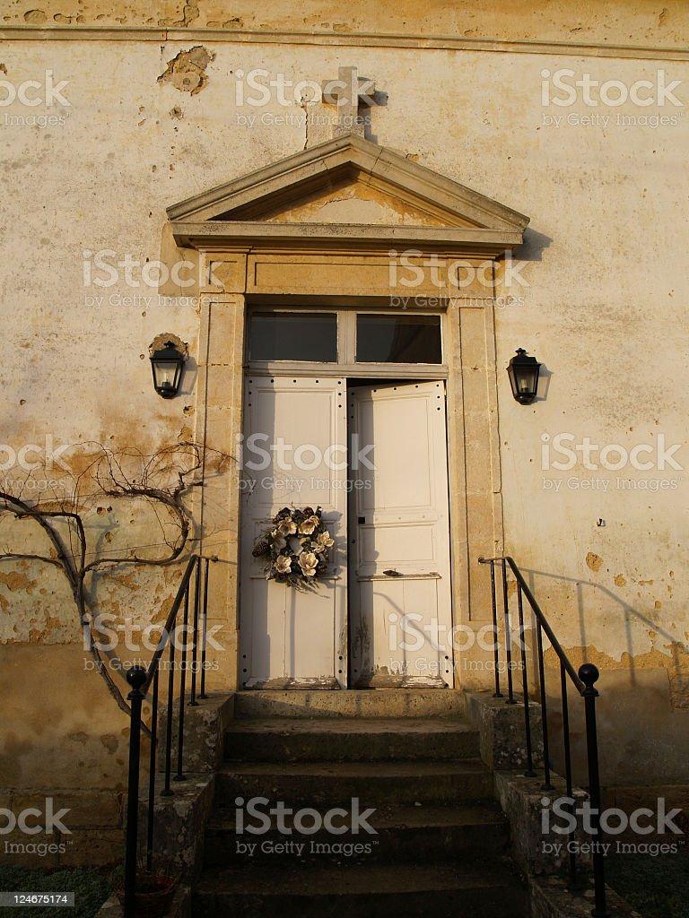 Door ajar royalty-free stock photo