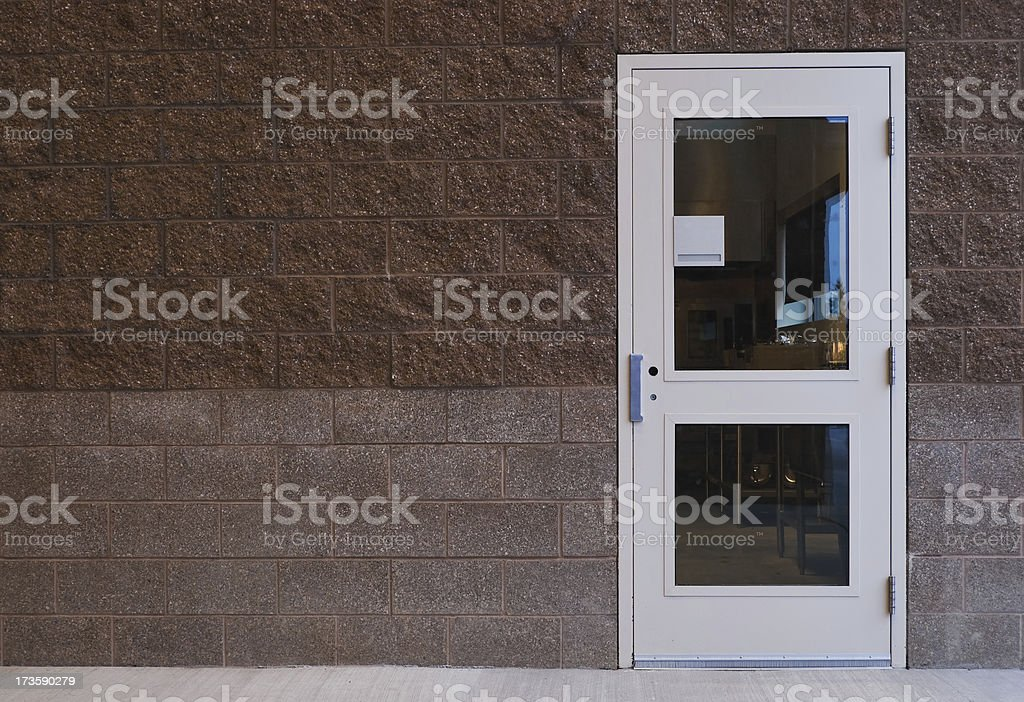 Door & Bricks stock photo