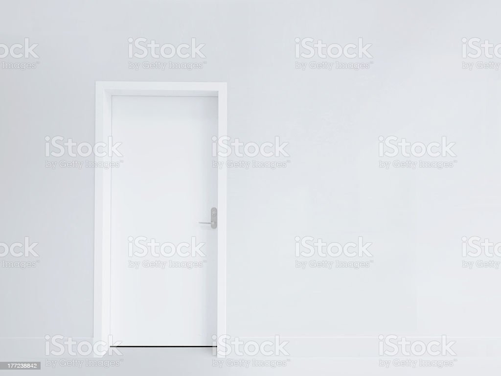 Door and blank wall royalty-free stock photo