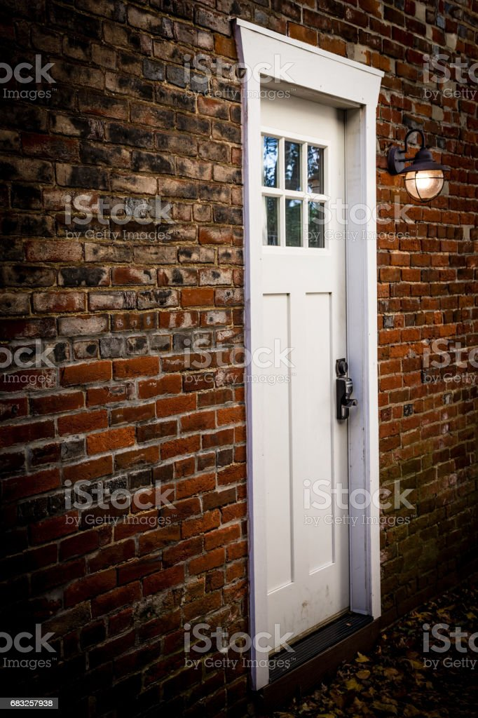 Door and Brick Wall royalty-free stock photo