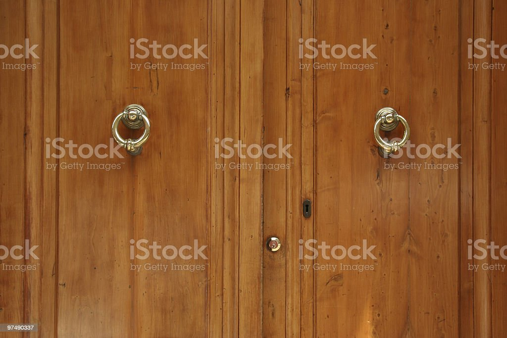 door and knocker royalty-free stock photo