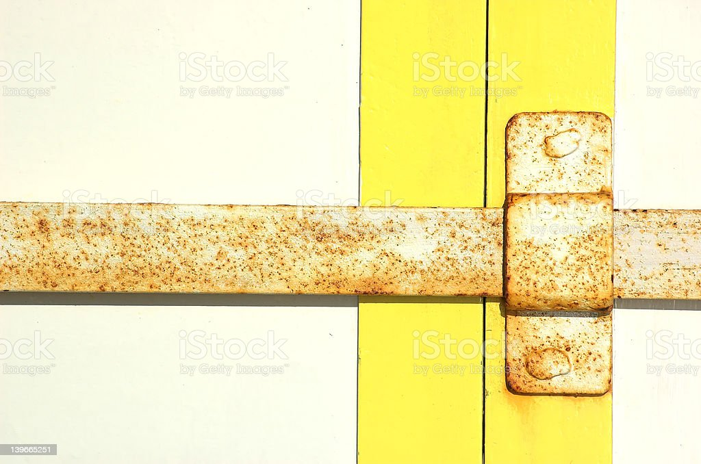 Door and Latch royalty-free stock photo