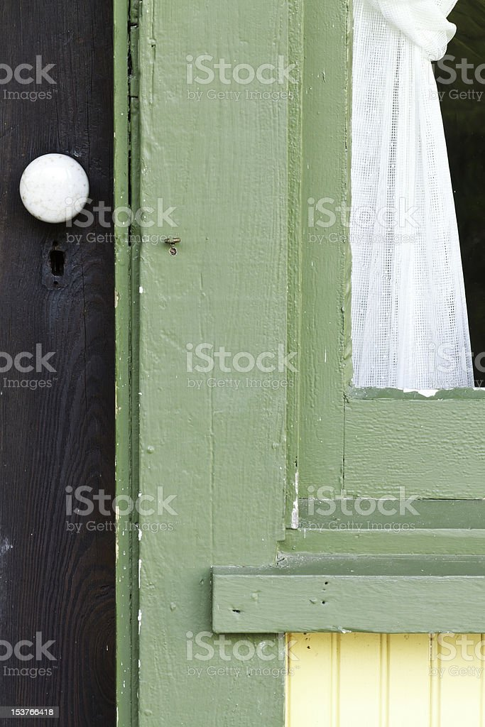 Door and Window On Pioneer Home royalty-free stock photo
