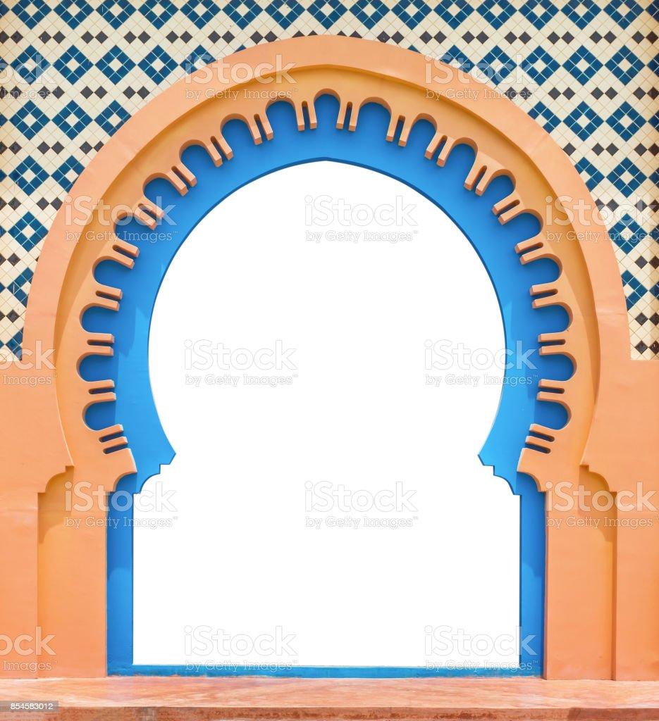 Tür-Arabisch, isoliert auf weißem Hintergrund mit Beschneidungspfad. – Foto