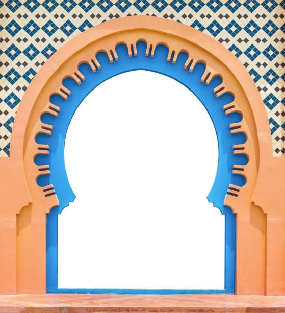 Door Arabic,isolated on white background with clipping path. Door Arabic,isolated on white background with clipping path. arabic style stock pictures, royalty-free photos & images