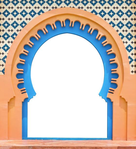 tür-arabisch, isoliert auf weißem hintergrund mit beschneidungspfad. - arabeske stock-fotos und bilder