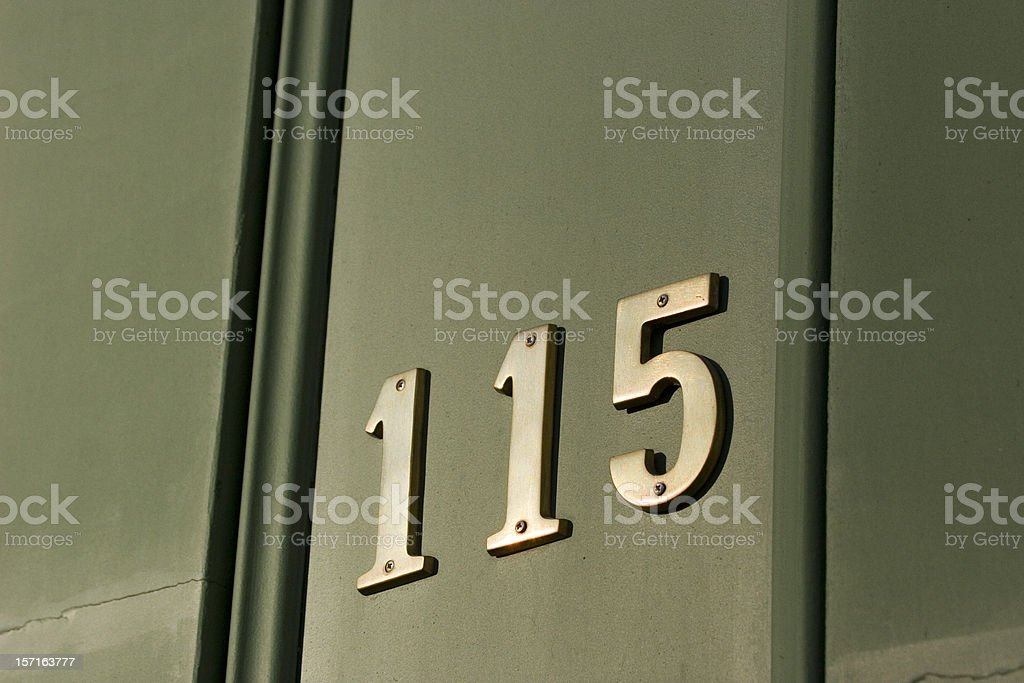 Door at 115 stock photo