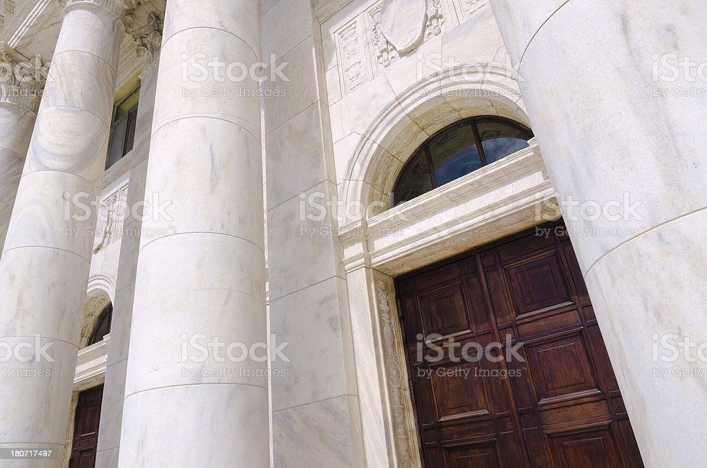 Door at Capitol of Puerto Rico in San Juan royalty-free stock photo