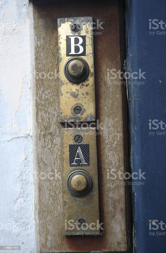 door bell apartment A royalty-free stock photo