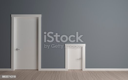 istock Door big and small 883374318