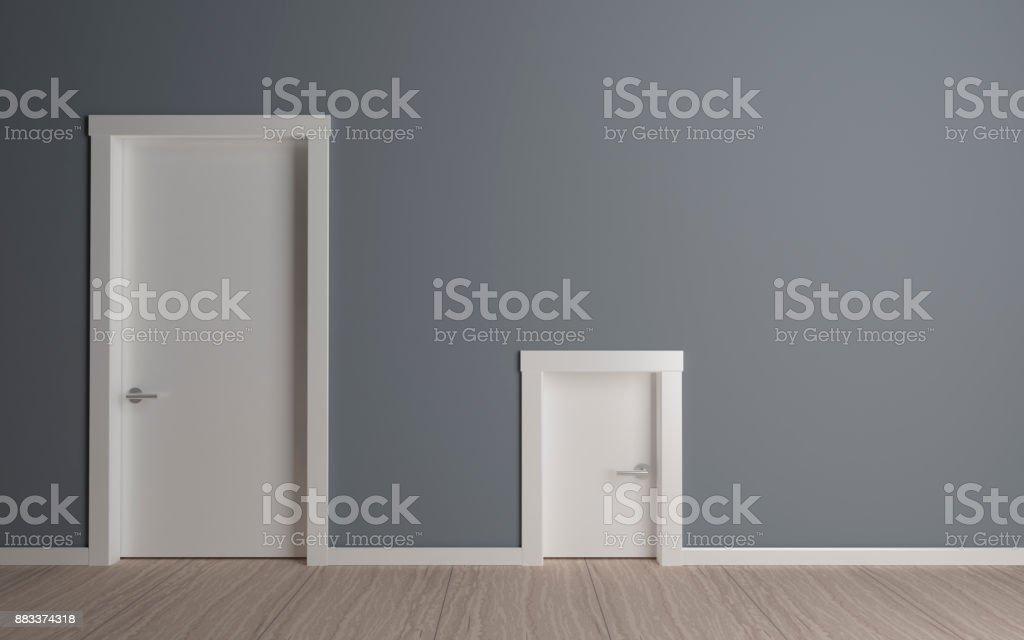 Door big and small stock photo