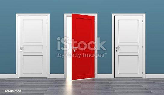 door business destination opportunity exit different 3D
