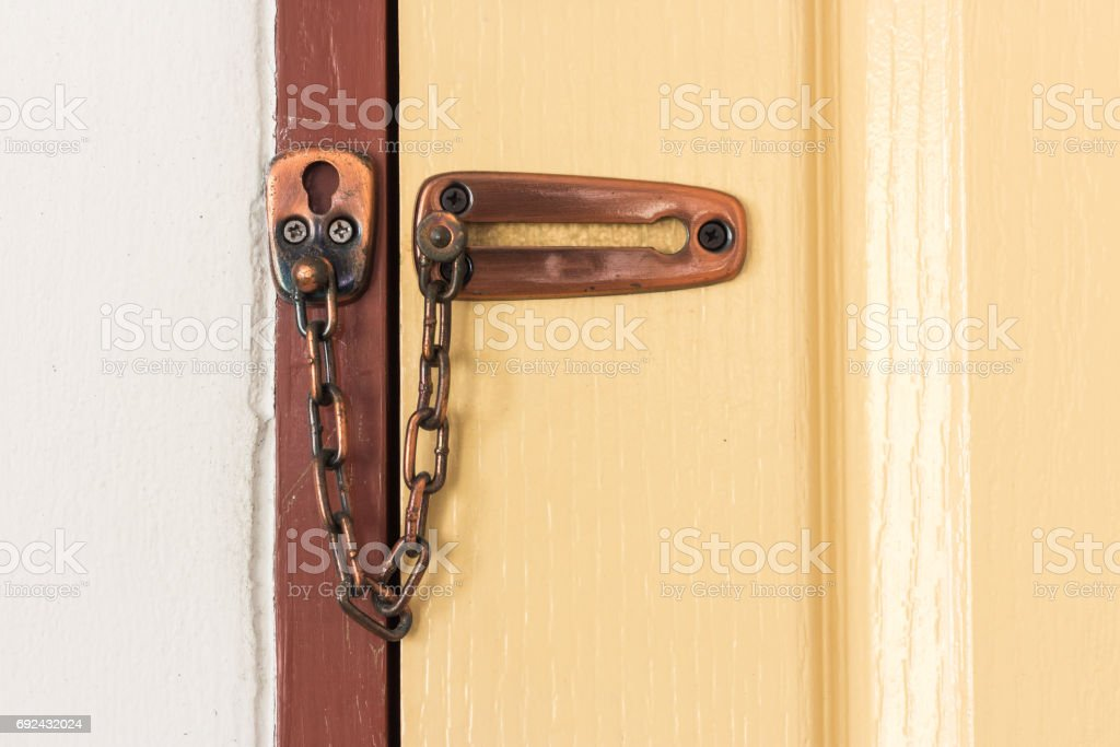 Door chain stock photo