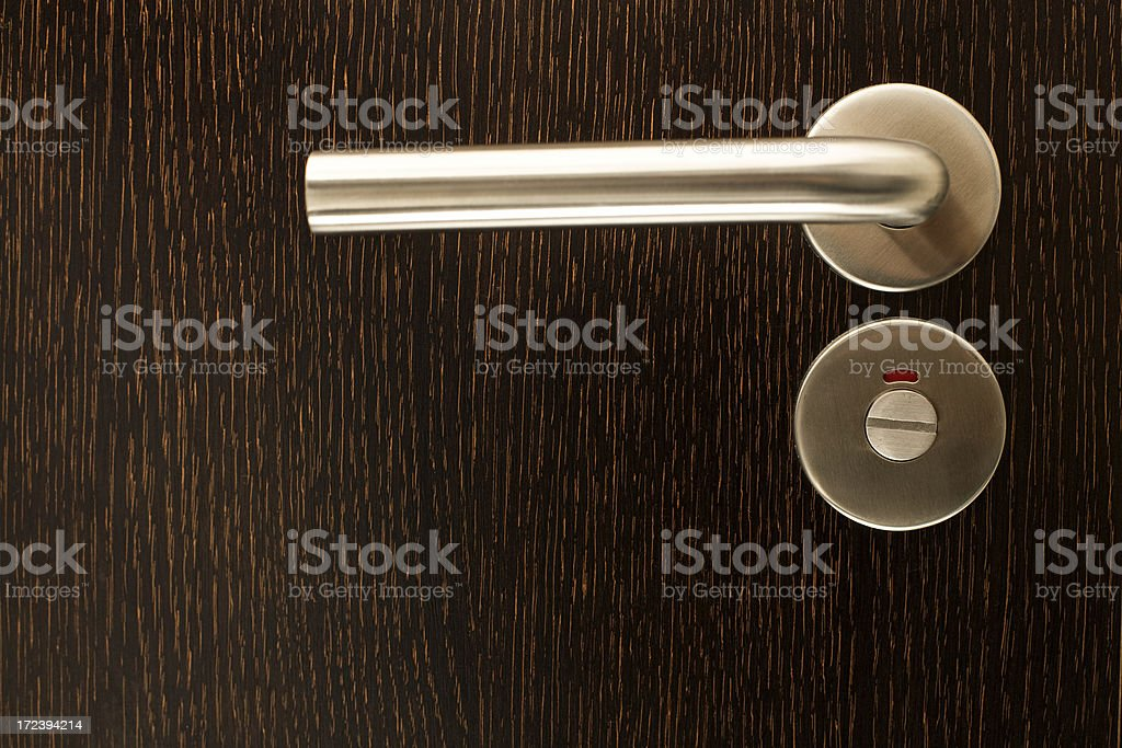Door closeup closed royalty-free stock photo
