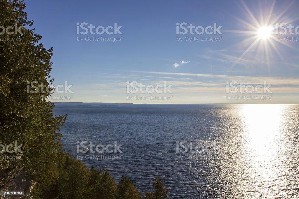 Door County sunset stock photo