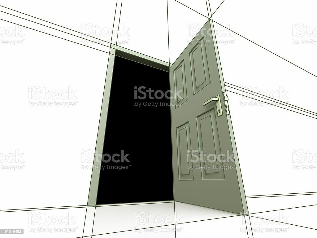 Door Drawing royalty-free stock photo