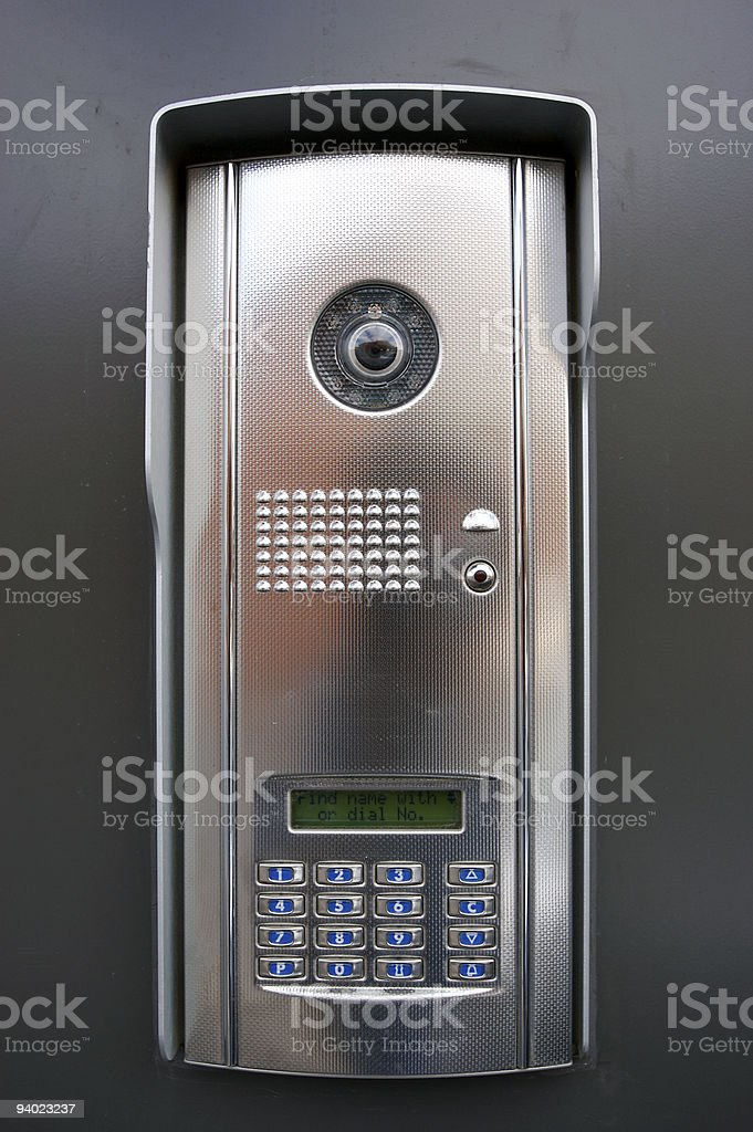 Door entry system royalty-free stock photo
