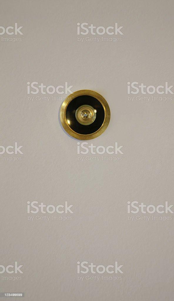 Door Eye Hole stock photo