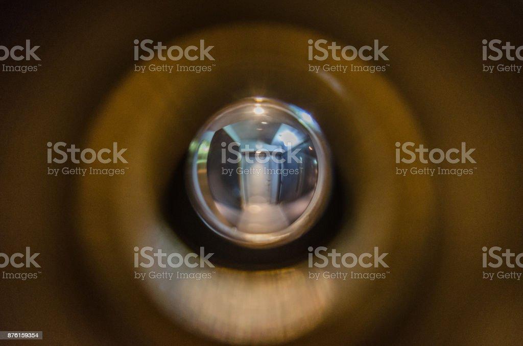 Door Eyelet stock photo