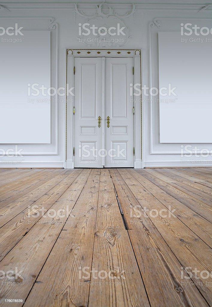 Door, floor and wall stock photo
