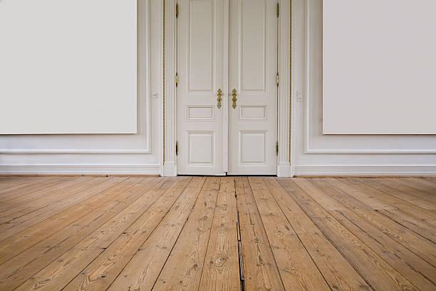 Door, floor, wall stock photo