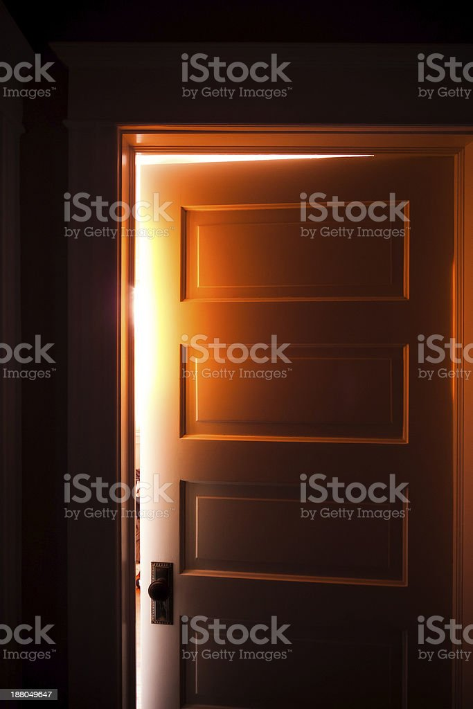 Door glow stock photo