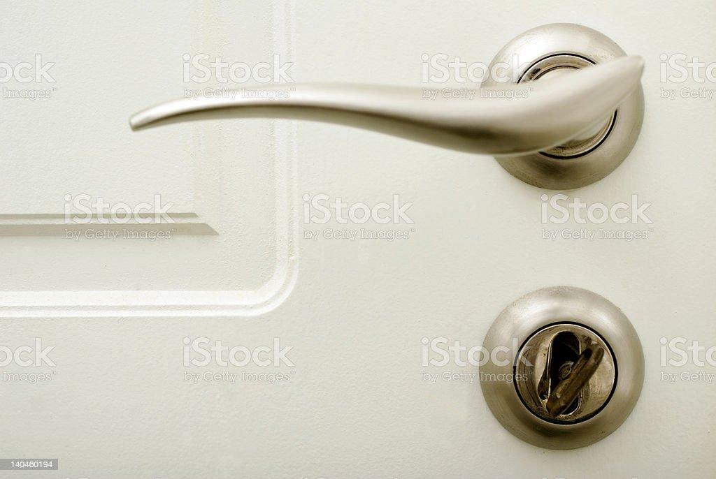 door handle and lock royalty-free stock photo