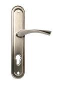 Metal door handle isolated on white background