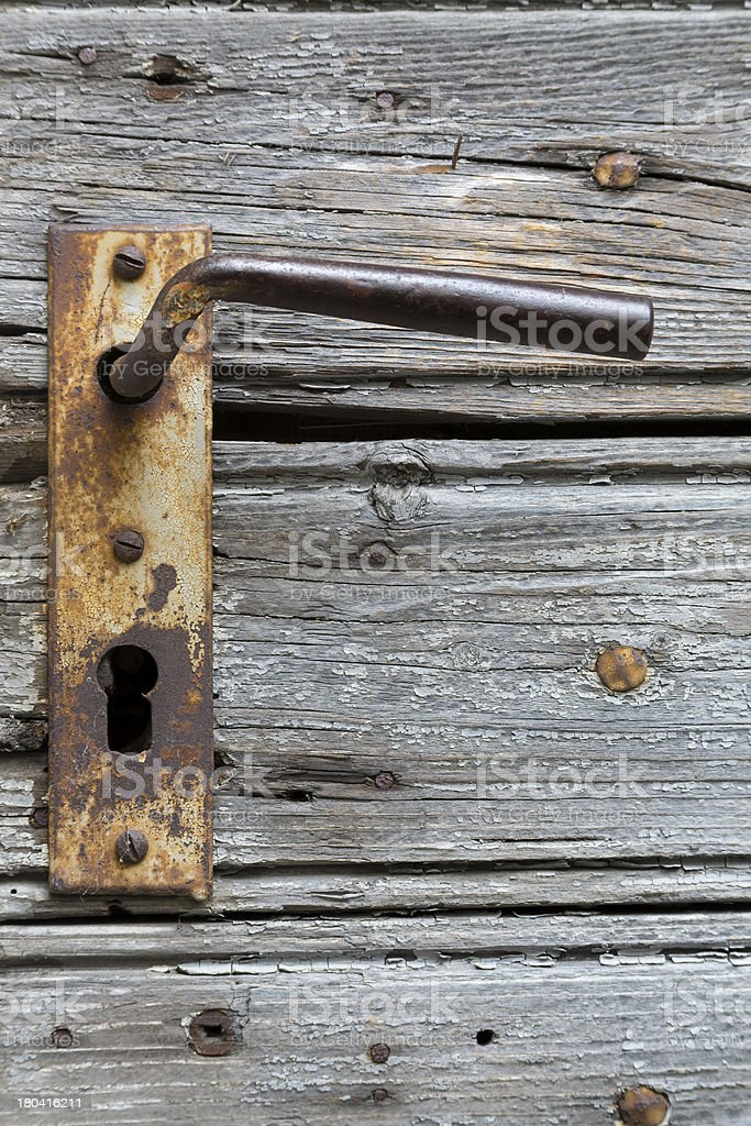 Türgriff mit Rost royalty-free stock photo