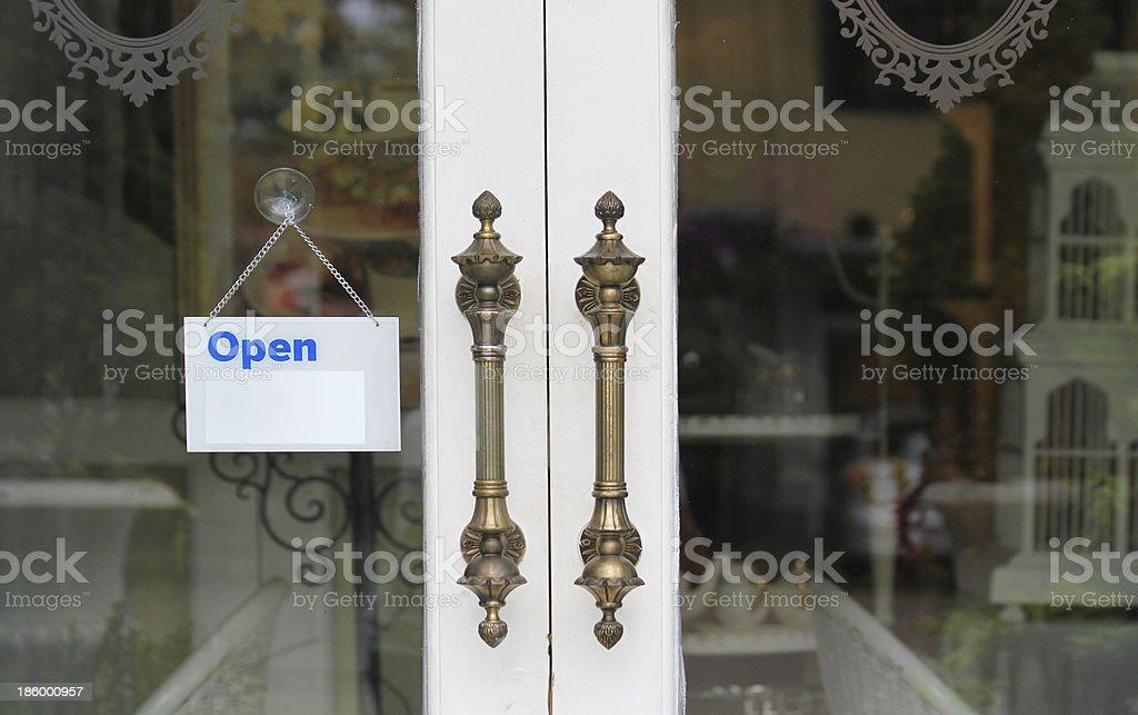 Door handles vintage style. stock photo