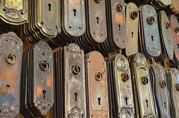 Door hardware stock photo