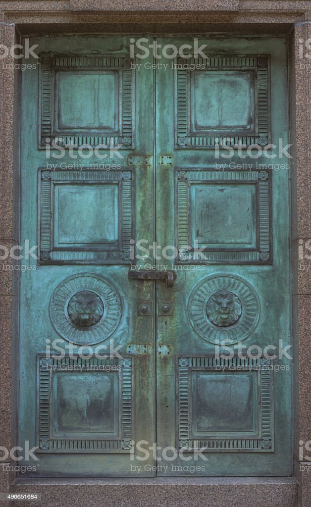 Door Highgate Cemetery stock photo