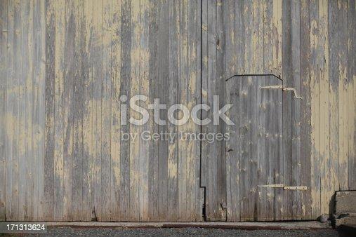 This old barn has a smaller door in the larger barn door.  Great for textures.