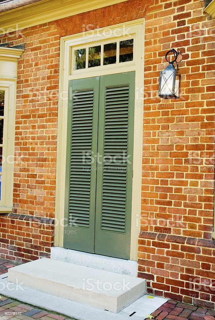 Door in a Colonial House royalty-free stock photo