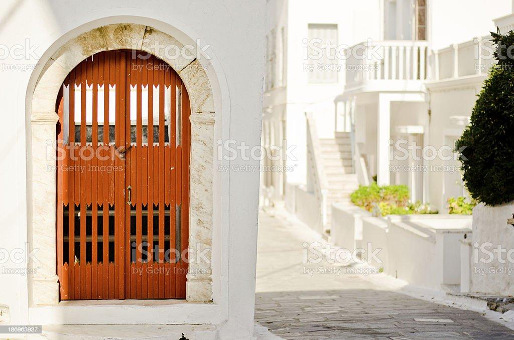 Door in Andros stock photo