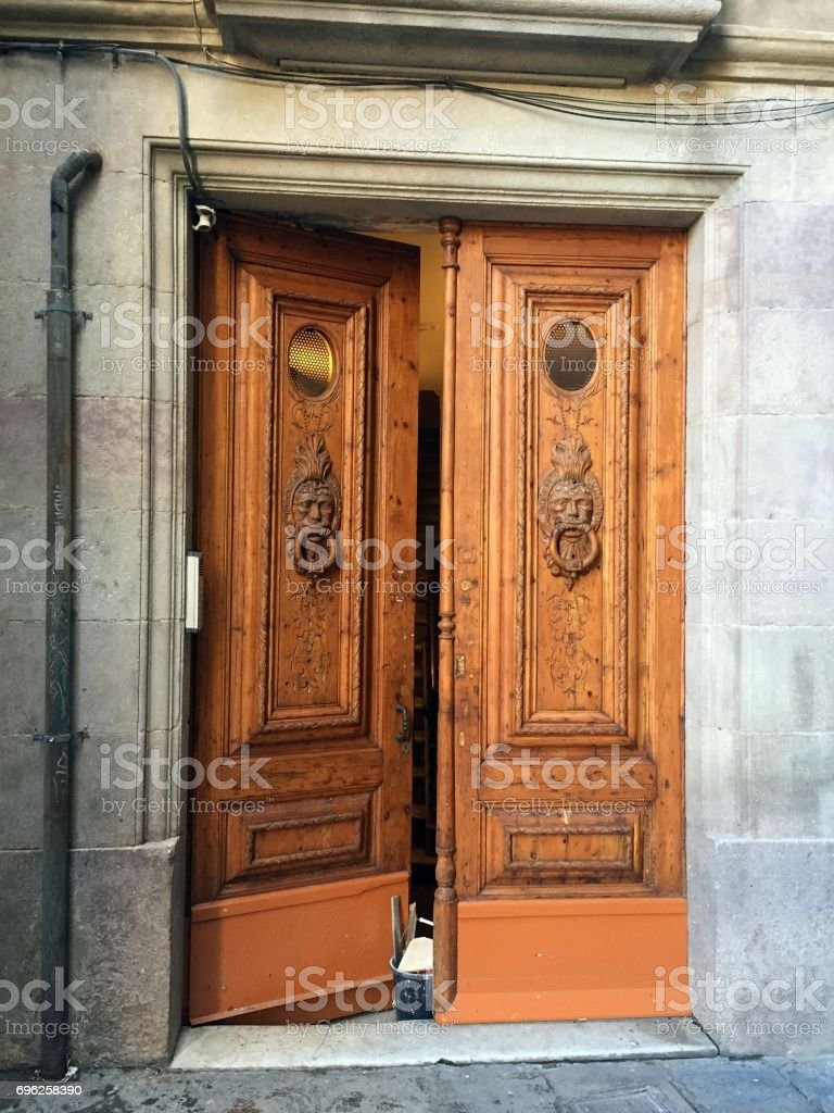 Door in Barcelona stock photo