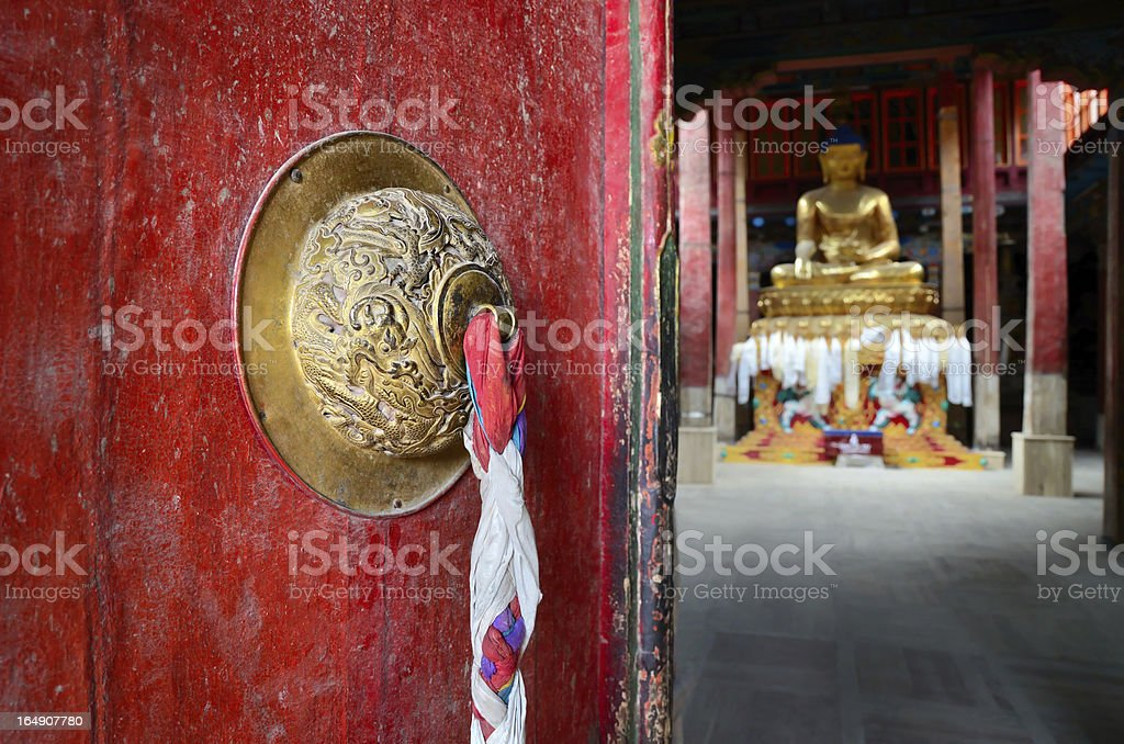 Door in Buddhist temple. royalty-free stock photo