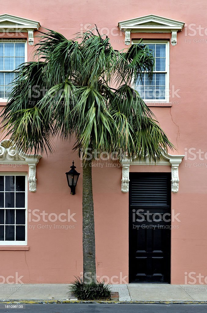 Door in Charleston Historic District royalty-free stock photo